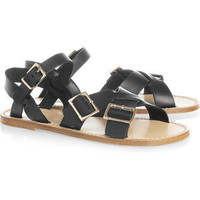 A.P.C. Buckled leather flat sandals