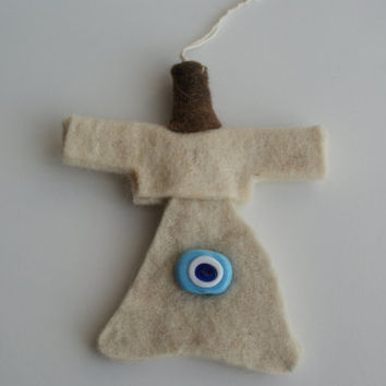 Handmade Sufi Whirling Dervish (Semazen) made of Felt (4.72 inch)