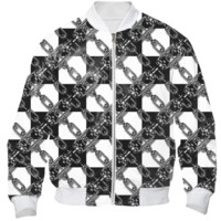 CHAINED CHECKERS Bomber Jacket