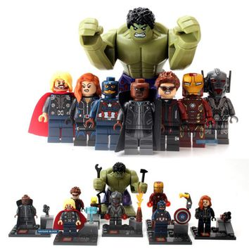 SuperHeros Marvel Avengers military figures legoing Building Blocks Sets Kids toy Bricks deadpool friends spiderman Hulk Batman