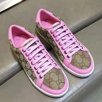 GUCCI Women Fashion Print Old Skool Flats Shoes