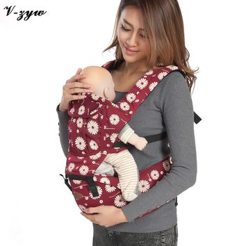 Fashion 2-30 Months Breathable Multifunctional Baby Backpack Carrier Infant Baby Sling Backpack Pouch Wrap Baby GZ128