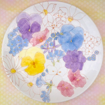 Extremely rare Ernestine Salerno set of 4 dinner plates