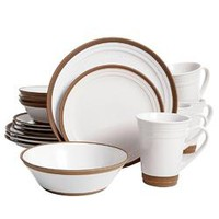 Gibson Elite Brynn 16 Piece Dinnerware Set in White