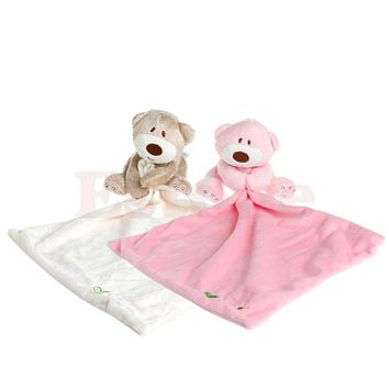 Bear Baby Kids Appease Towel Comforter Stuffed Washable Blanket Soft Smooth Toy
