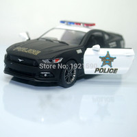 Brand New KINGSMART 1 38 Scale USA Ford Mustang 2015 Police Ver. Diecast Metal Pull Back Car Model Toy For Gift Kids Collection