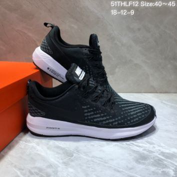 HCXX N696 Nike Air Zoom Pegasus 22 Flyknit XXII Breathable Sports Running Shoes Black Green