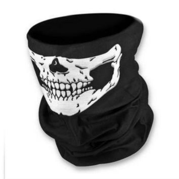 WAYXIN 1/2 Piece Motorcycle SKULL Ghost Face Windproof Mask Outdoor Sports Warm Ski Caps Bicyle Bike Balaclavas Scarf