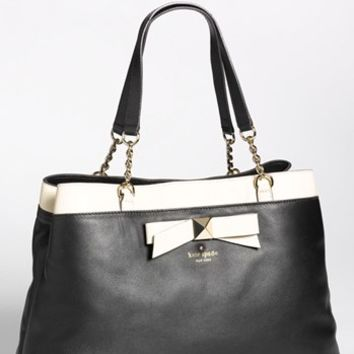 kate spade new york 'hancock park - maryanne' leather bow shopper, large | Nordstrom