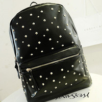 Back To School Casual Comfort Hot Deal On Sale College Korean Rivet Stylish England Style Bags Backpack [6582162695]