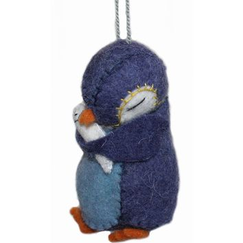 Penguin Felt Holiday Ornament