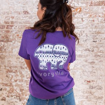 Perfect Fit Passion Purple Samburu Sketch Tee
