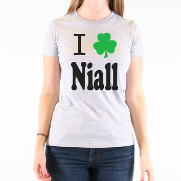 One Direction I Love Niall Horan St. Patrick's Day T-Shirt - 617