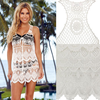White Crochet Cover-Ups