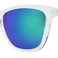 Knockaround - Premium Clear Sunglasses, Green Moonshine Lenses