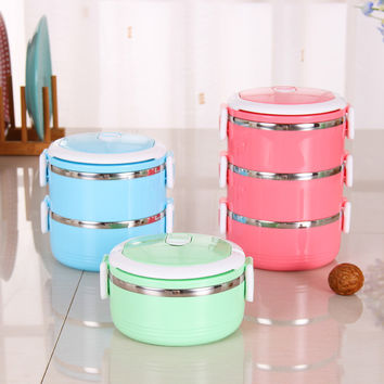 Stainless Steel Thermos Bento Lunch Box for Kids Thermal Food Container Food Thermos Portable Japanese Insulated Lunchbox