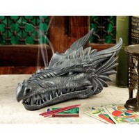 Design Toscano Stryker the Smoking Dragon Sculptural Incense Box