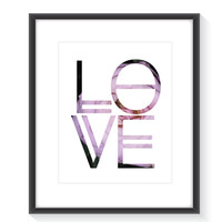 Love and Flowers Wall Art (Frame NOT Included)
