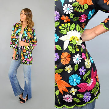 60's Embroidered FLORAL Jacket