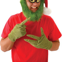 costume accessory: grinch hat with beard