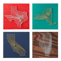 HEART STRINGS STATE LOVE WALL ART