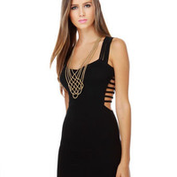 Sexy Black Dress - Little Black Dress- Cutout Dress