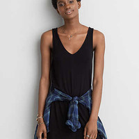 AEO Soft & Sexy Strappy Back Dress, True Black