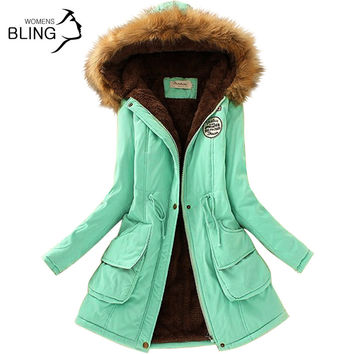 Women's Fur Collar Coat Jackets