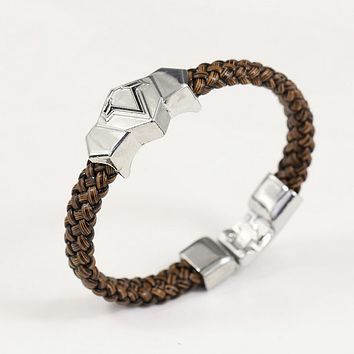 Fashion Assassin's Creed Assassin Leather Bracelet simple male personality dignity