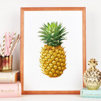PRINTABLE ART,Illustration Pineapple,Kitchen Wall Decor,Print Pineapple,Tropical Print Quote Print,Be a pineapple,Stand Tall,Pineapple Print