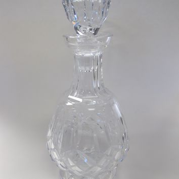 Signed Lismore Waterford glass Hand Cut  decanter Irish Crystal