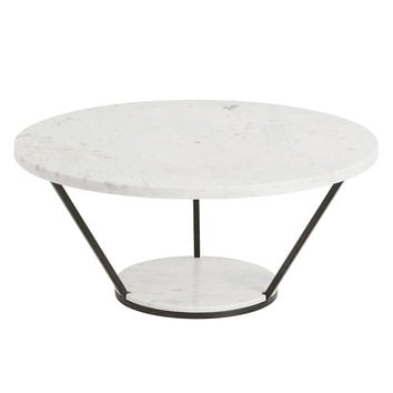Petra White Marble Cocktail Table