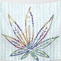 Rainbow Pot Leaf Wall Tapestry Yoga Meditation Mandala Wall Hanging