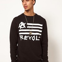 ASOS Sweatshirt With Revolt Print