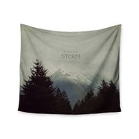 "Robin Dickinson ""Brave The Storm"" Snow Mountain Wall Tapestry"
