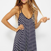 Outlines Dress - Navy