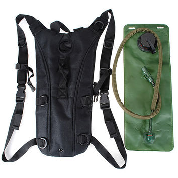 NEW Best Sale Hydration Pack Water Backpack Bladder Bag Cycling Bicycle Climbing Hiking Pouch + 3L Hydration System Bladder Set