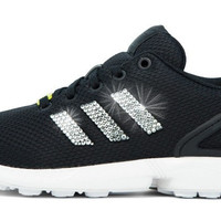 Adidas ZX Flux + Crystallized Swarovski 3-Stripe - Black/White