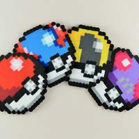 Set of Pokeball Coasters/Ornaments/Magnets