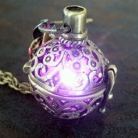 My Associates Store - Steampunk FIRE necklace - pendant charm locket jewelry-GREAT little GIFT