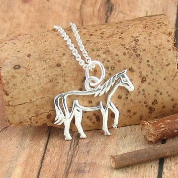 Friendly Horse Necklace