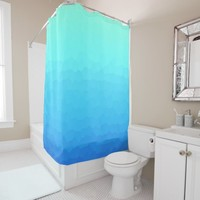 Mosaic in Turquoise and Blue Shower Curtain