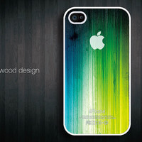 iphone hard case iphone 4s case iphone 4 cover white iphone case colorized wood texture Iphone Logo design printing