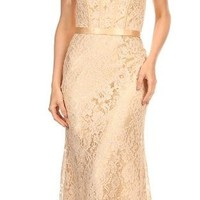 Eva Kind Of Love Champagne Lace Strapless Maxi Dress