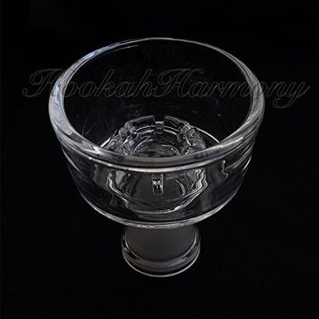 Glass Bowl for Art and the Heavy Hitter Hookah 18mm / 19mm Female Clear Pyrex Art Librex Roi Lavoo Zahrah Shisha