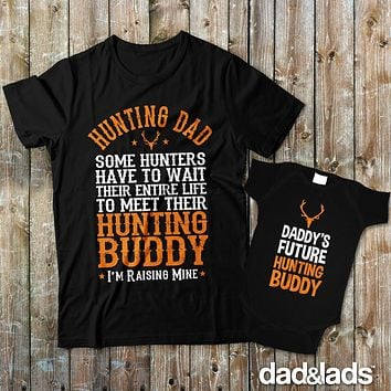 Hunting Dad and Daddy's Future Hunting Buddy Matching Father Son Shirts