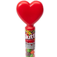Skittles Candy Valentine Heart Toppers: 24-Piece Display