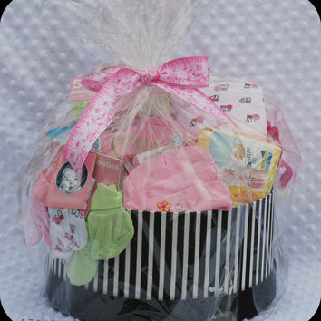 Baby Girl Gift Basket, Baby Gift Basket, Baby Girl Shower Gift
