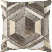 Lycaon Throw Pillow Gray, Brown