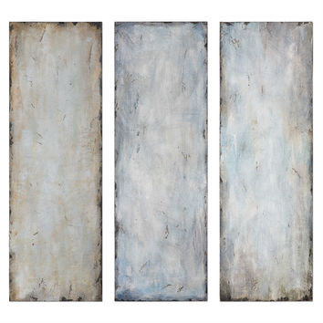 Textured Trio Abstract Art, S/3